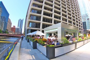 outdoor event space on chicago river