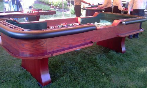 10 Foot Mahogany Craps Table