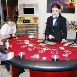 VIP Blackjack Table and Dealer