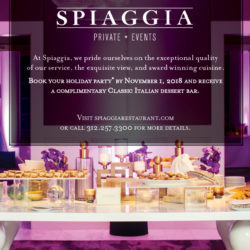 Holiday Party booking incentive SPIAGGIA