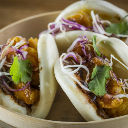 Fried Curry Shrimp Bao