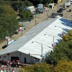 Medical Tent at Chicago Marathon
