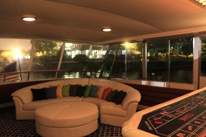 Night Interior - Adeline's Sea Moose - A Chicago Private Yacht Rental