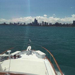 Frontal City View - Adeline's Sea Moose - A Chicago Private Yacht Rental