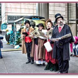 Caroling characters groups chicago