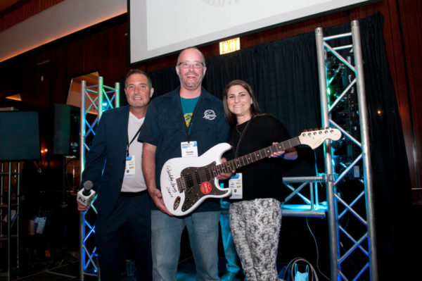 Buddy Buy signed guitar giveaway at Hospitality Fest 2017