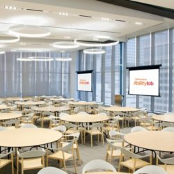 Auditoriums ABC rounds with blinds