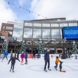 Ice Skating at Gallagher Way Park at Wrigley