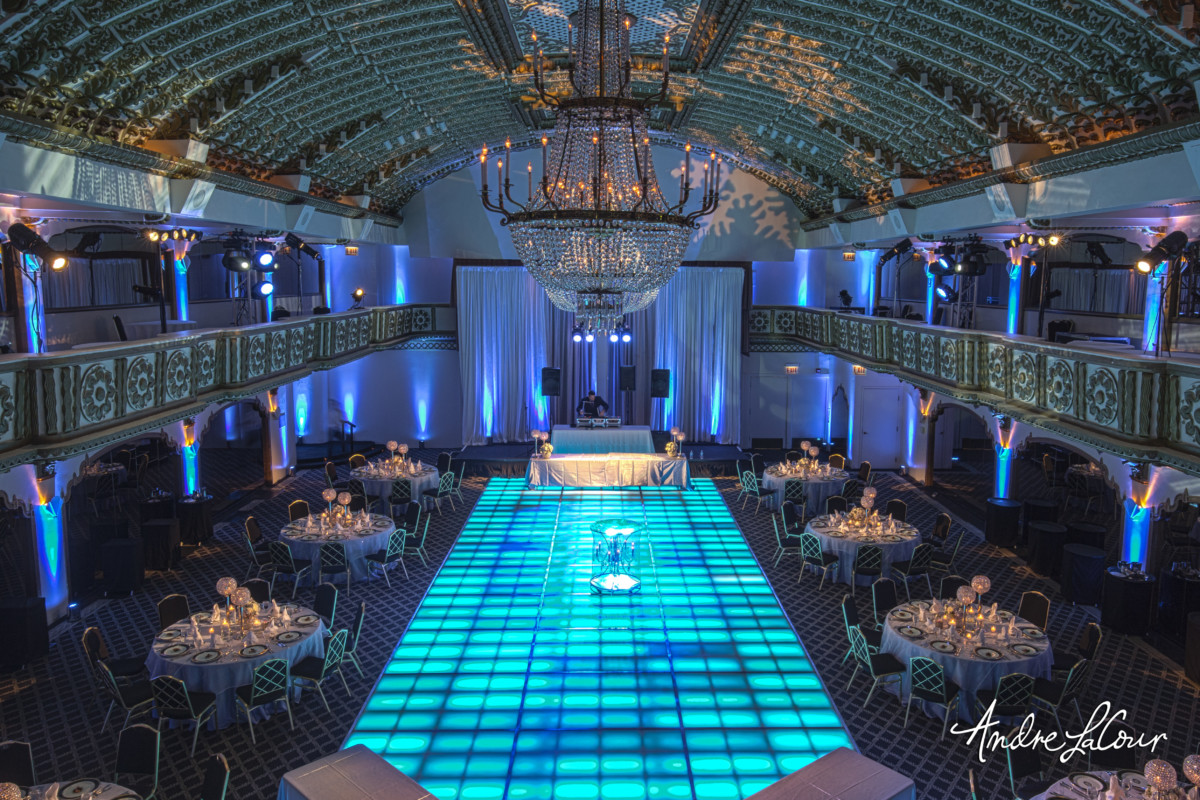 Crystal Ballroom Blue Dance Floor