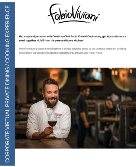 celebrity chef fabio viviani virtual events and classes